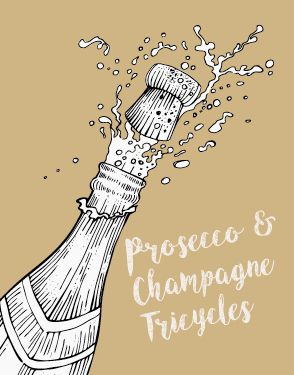 Carlicious Prosecco and Champagne Tricycles