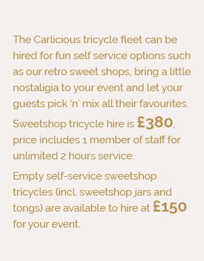 Carlicious Sweetshop Tricycle info